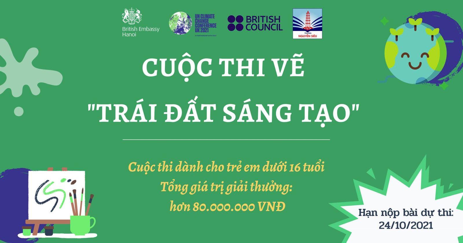 """Phát động Cuộc thi Vẽ """"Trái Đất Sáng Tạo"""" cùng Đại sứ quán Anh tại Việt Nam"""