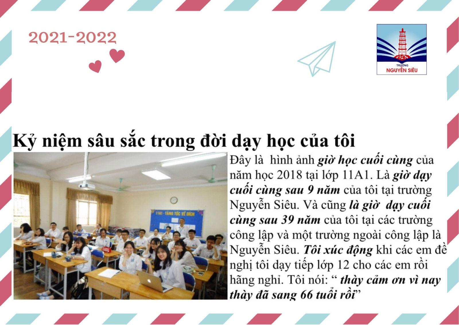 Tri ân mái trường Nguyễn Siêu