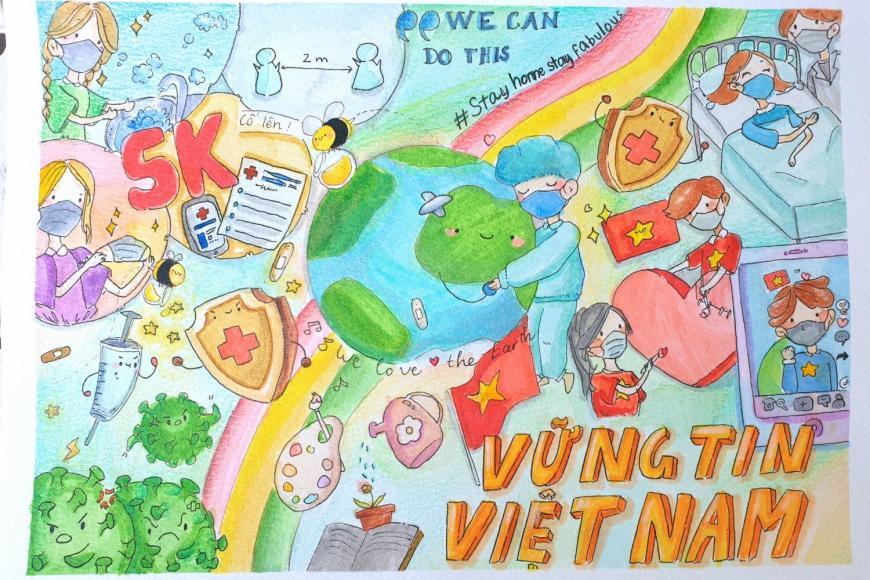 Vững tin Việt Nam - sắc màu tuổi thơ gửi tuyến đầu chống dịch