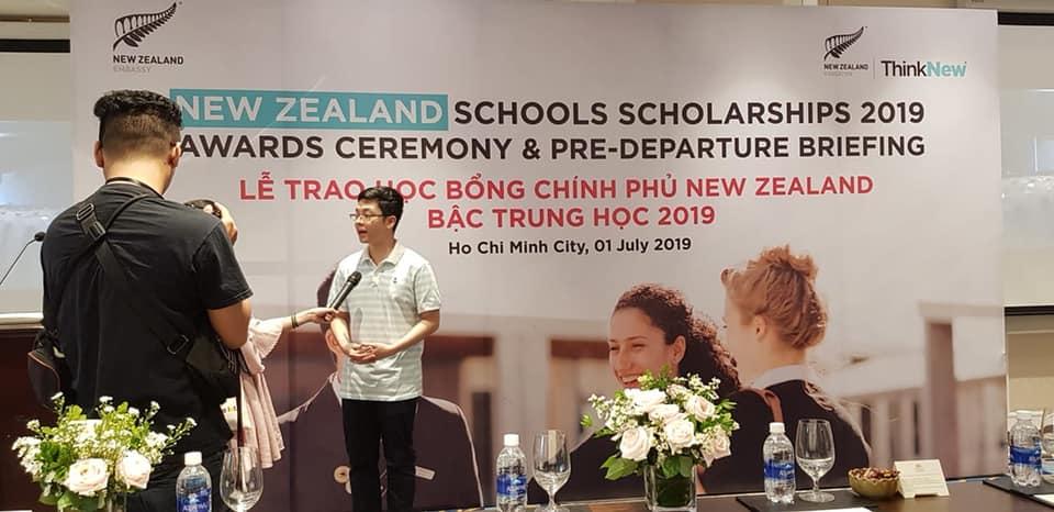 Thêm một học sinh lớp 10 nhận học bổng Chính phủ New Zealand