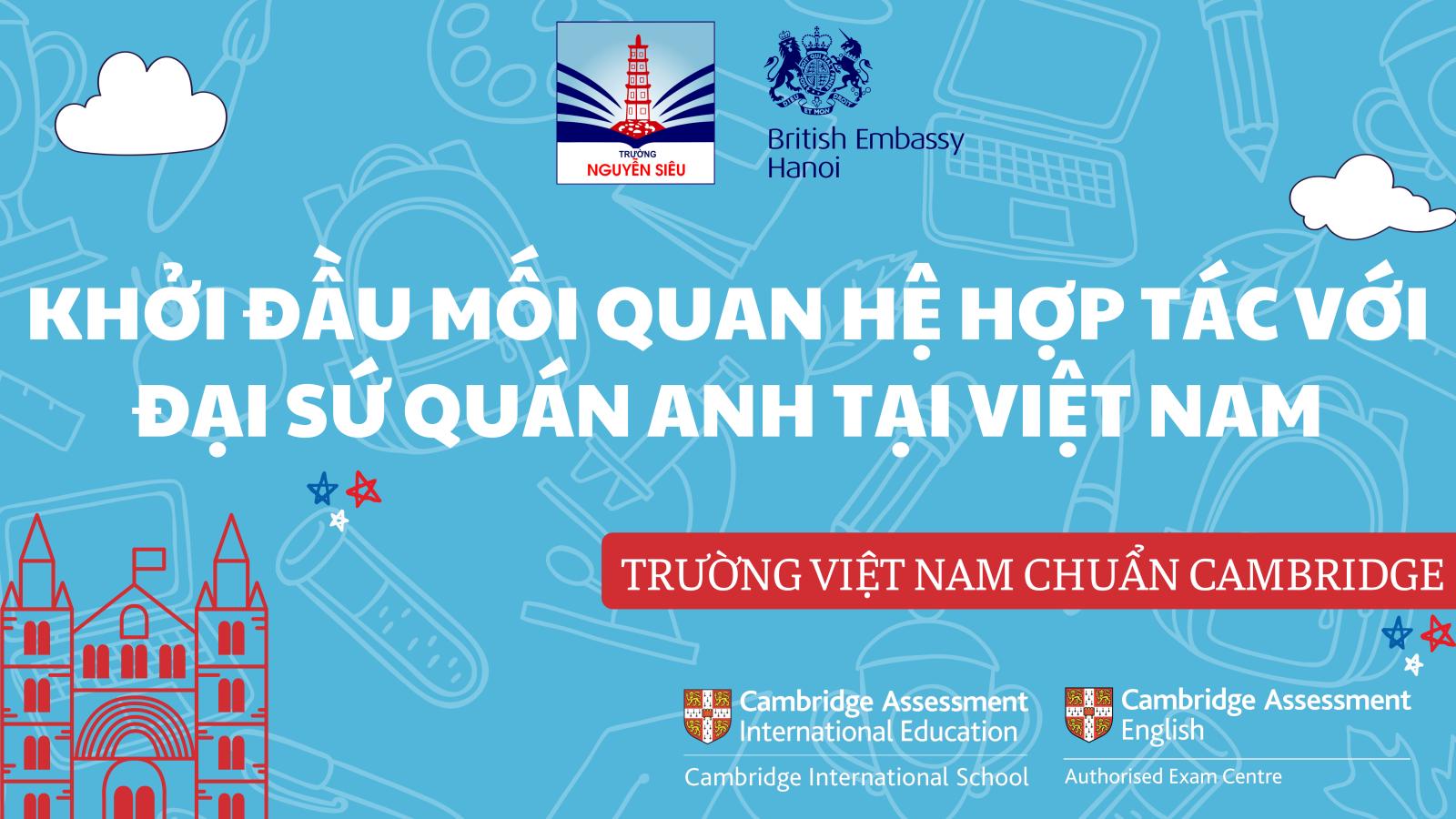 Khởi đầu mối quan hệ hợp tác với Đại sứ quán Anh tại Việt Nam